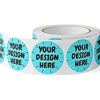 CustomBrandWare 150 Custom Circle Sticker BOPP Labels, Gloss/Matte Custom Sticker, Any Text + Image, Your Logo Design is…
