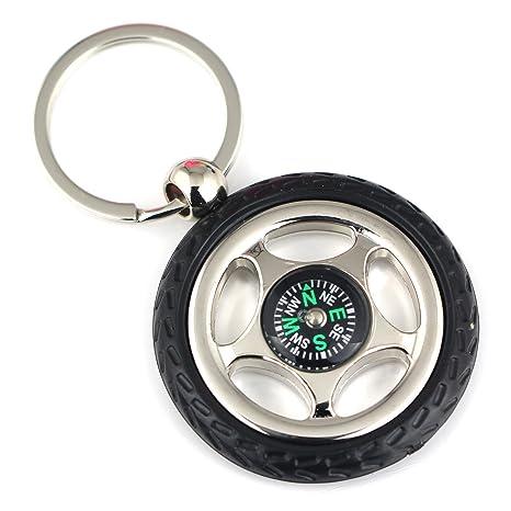 Maycom Creative de goma neumático de rueda brújula llavero ...