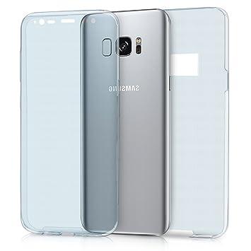kwmobile Funda para Samsung Galaxy S8 - Carcasa Completa [360] de [Silicona] para móvil - Cover Doble [Azul]