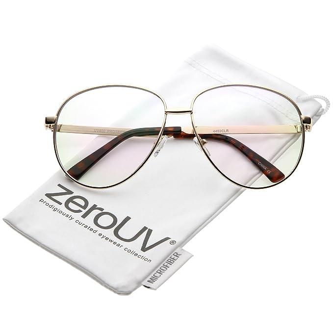 Amazon.com: zeroUV – Oversize Classic lente transparente en ...