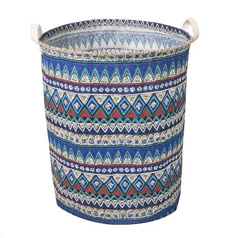 Amazon.com: Plegable Pop-up Cestos de lavandería, lino y ...