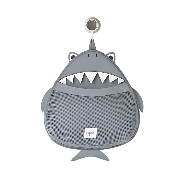 3 Sprouts Bath Storage Caddy - Organizer for Shower, Baby and Toys, Shark