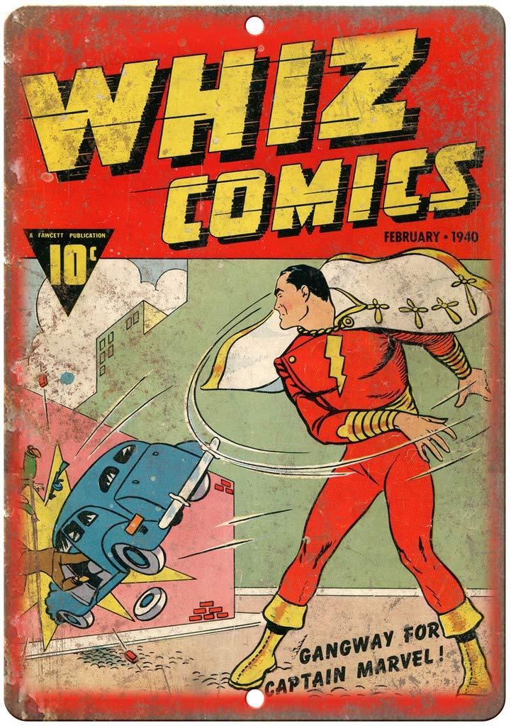 "Whiz Comics Book Cover Vintage Art 10/"" x 7/"" Reproduction Metal Sign J700"