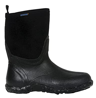 Bogs Mens Classic Mid Waterproof Insulated Rain Boot Black 4 DM