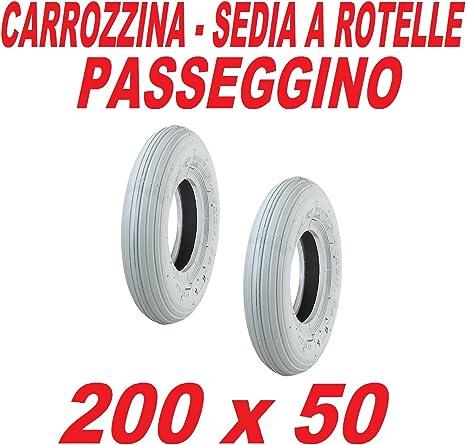 COPERTONE 200 X 50 GRIGIO PNEUMATICO SEDIA A ROTELLE 4PR