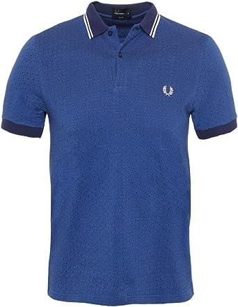 Fred Perry Camisa de Textura Lunares piqué para Hombre