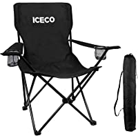 Lightweight Campsite Seat Red Trips Fishing Beach BBQs Bonnlo Portable Camping Chair with Cup Holder Folding Camp Chair Fishing Chair Foldable Chair for Camping