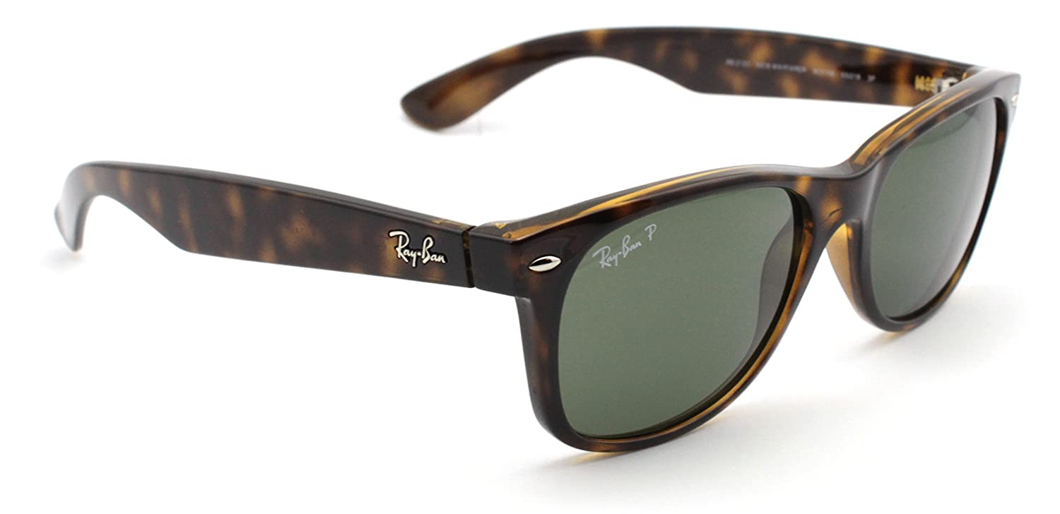 Amazon.com: Ray-Ban RB2132 902/58 Wayfarer Tortoise Frame / Green Polarized Lens 58mm: Clothing