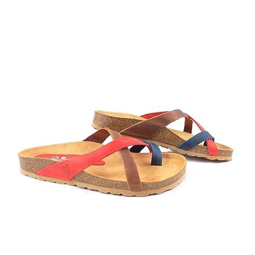 0945c8e0 Yokono - Sandalias de Vestir de Piel para Mujer Multicolor Multicolor,  Color Multicolor, Talla 37 1/3: Amazon.es: Zapatos y complementos