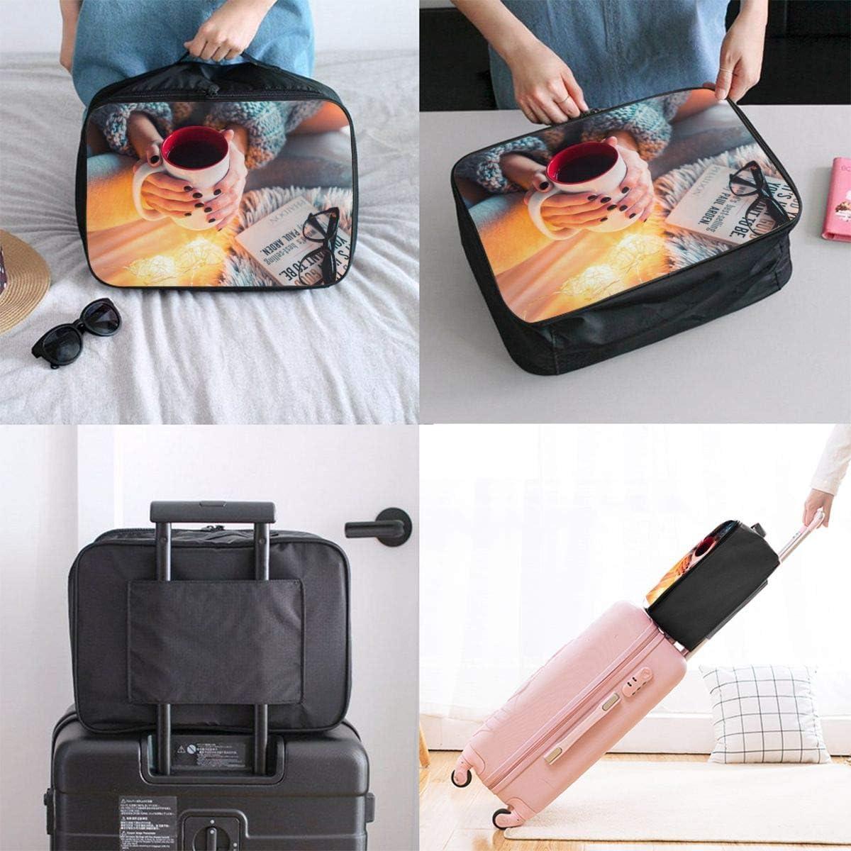 Yunshm Autumn Mood Personalized Trolley Handbag Waterproof Unisex Large Capacity For Business Travel Storage