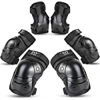 Sports Protective Gear Safety pad Safeguard (Knee Elbow Wrist) Support Pad Set Equipment for Kids Roller Bicycle BMX Bike Skateboard Extreme Sports bogu Protector G
