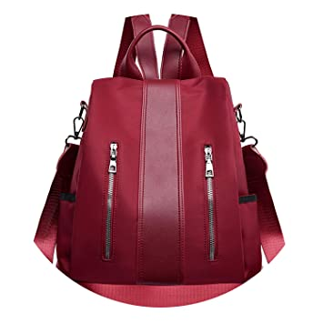 Women Backpack Purse Anti-Theft Rucksack Waterproof Oxford Cloth School Bag,