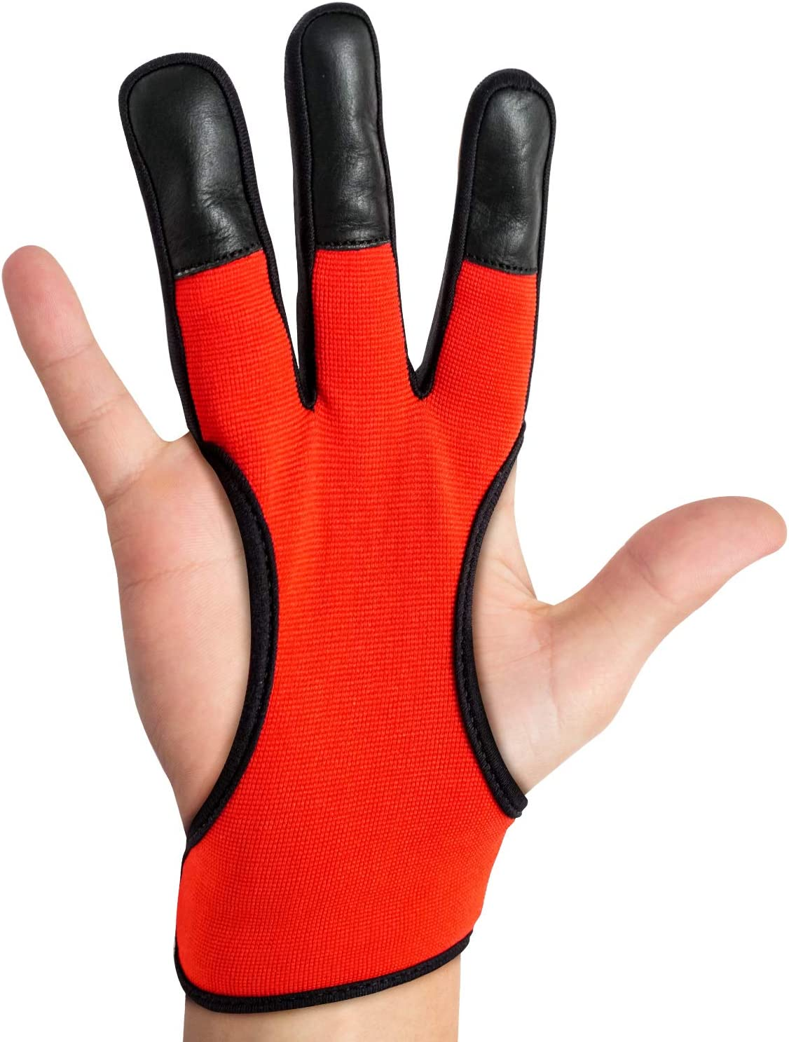 DMoose Archery Glove for Men Women, Three Finger Design, Finger Protection Shooting Hunting Targeting Bow Tab Gear Accessories, 4-Way and Leather Material Non-Slip Padded Guard Improve Grip Stability : Sports & Outdoors