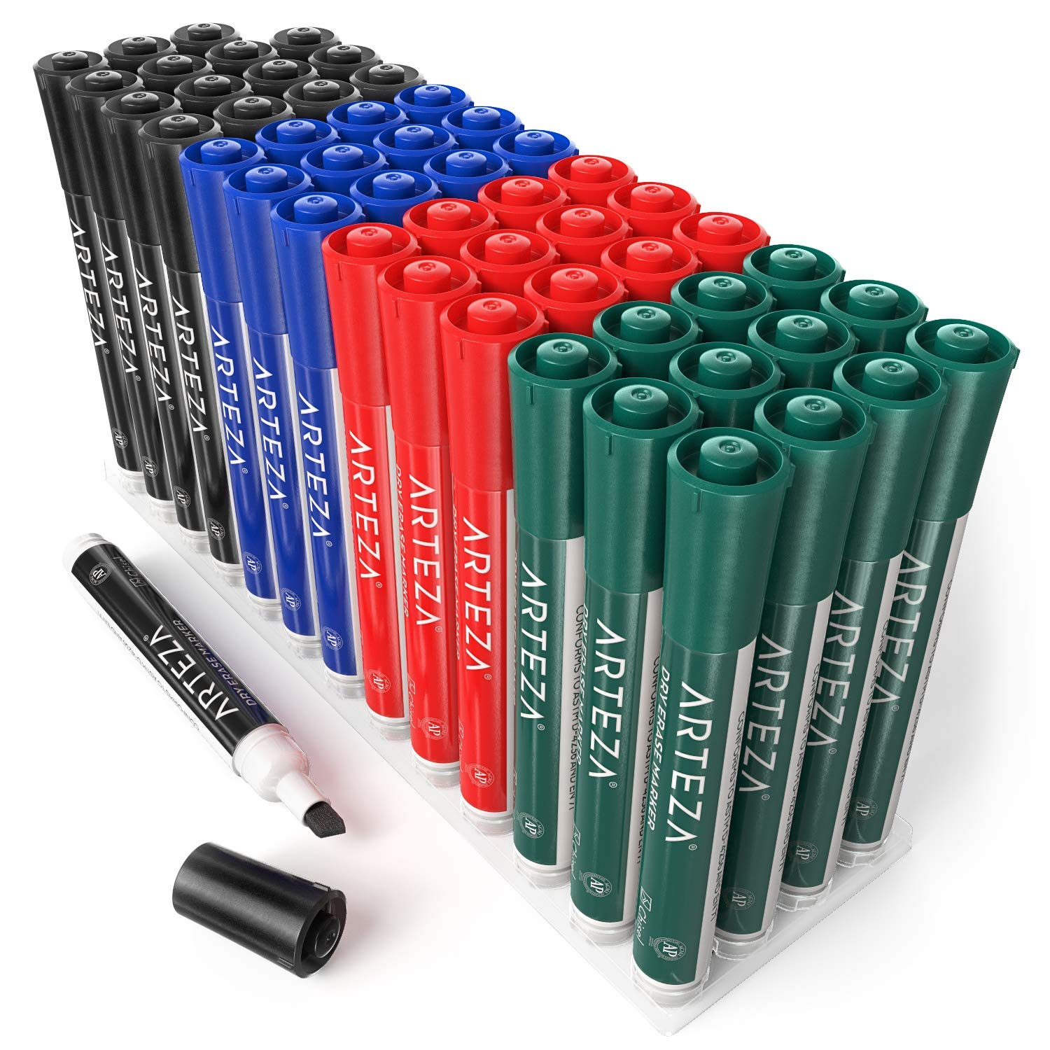 ARTEZA Dry Erase Markers, Bulk Pack of 52 (with Chisel Tip), 4 Assorted Colors with Low-Odor Ink, Whiteboard Pens is Perfect for School, Office, or Home by ARTEZA (Image #7)