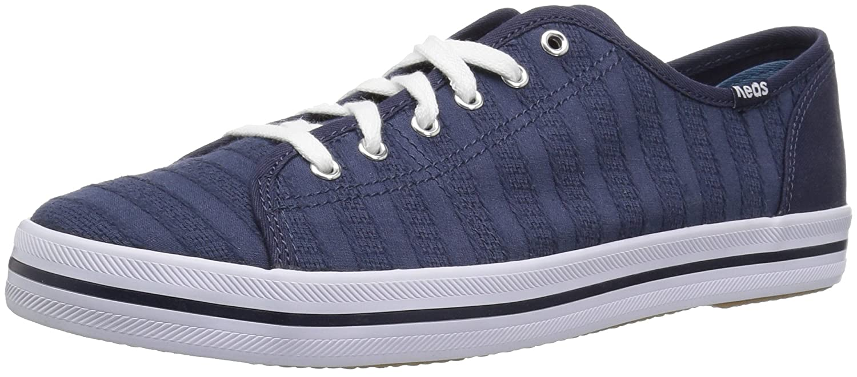 Keds Women's Kickstart Eyelet Stripe Sneaker B00FZS2Q0E 5 B(M) US|Navy