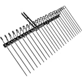 VEVOR Landscape Rake, 60 Inch Wide Tractor Rake, 3-Point Tow Behind Rake with 25.6 Inch Spring Tines, Black Pine Straw Needle