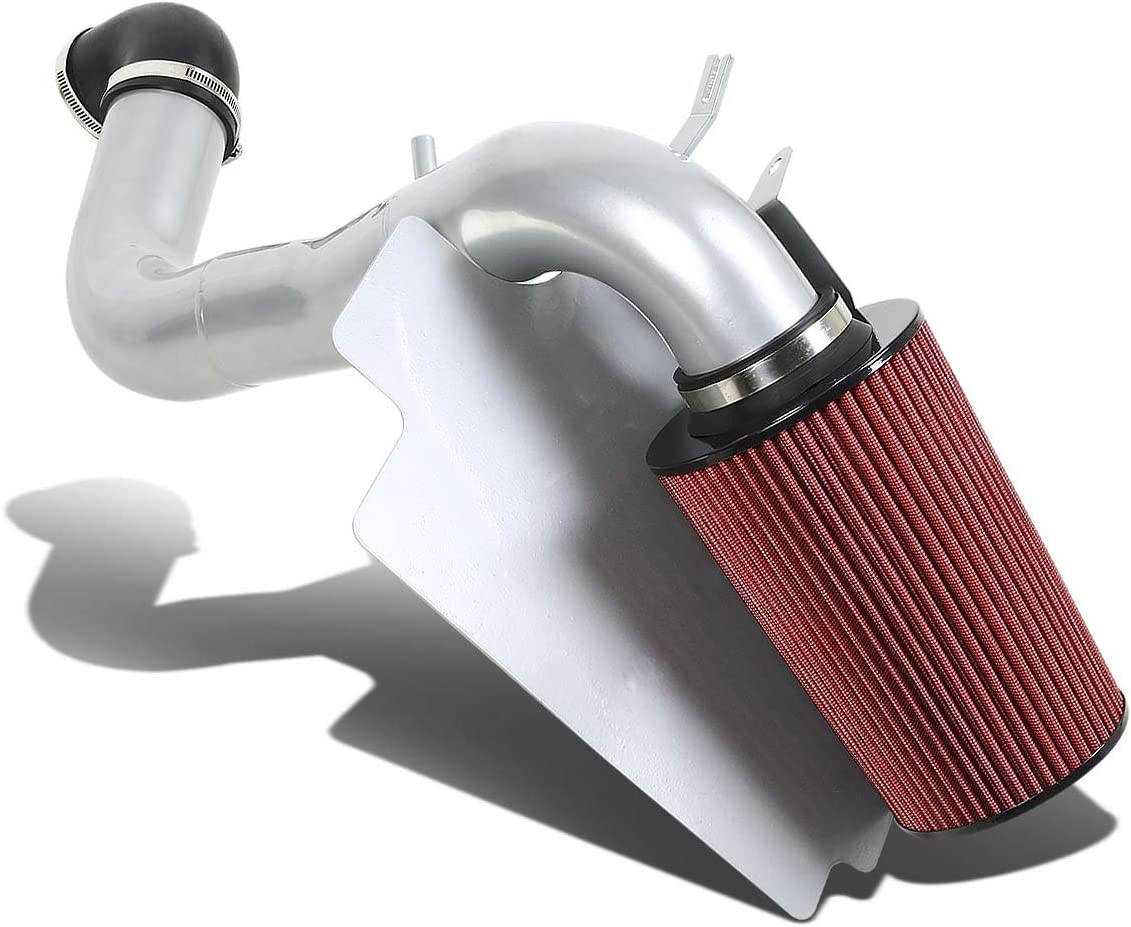 For S10//Sonoma//Hombre 2.2 4Cyl Silver Coated Aluminum Air Intake Pipe+Red Filter System