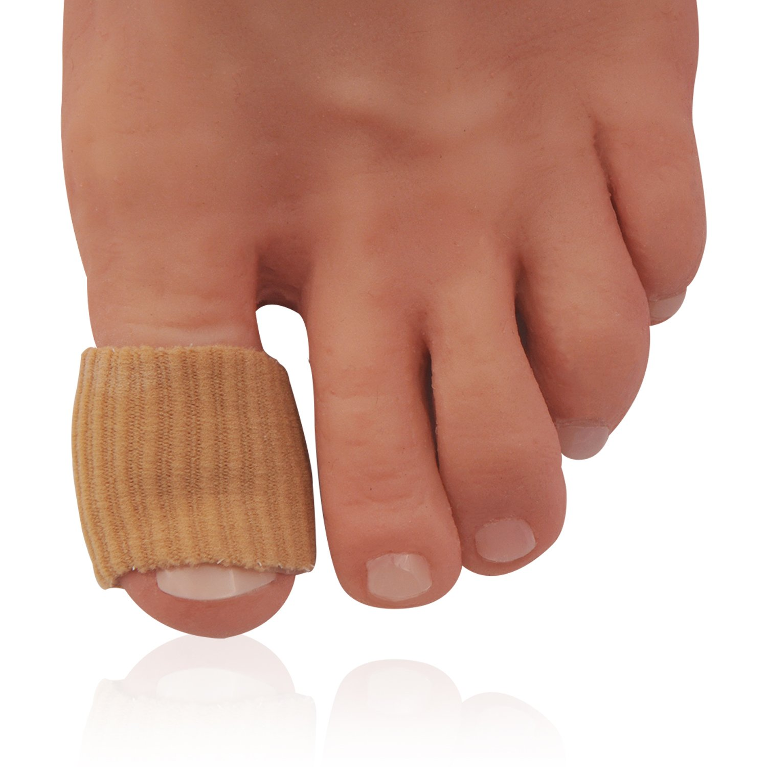 Dr Frederick's Original Fabrigrip Toe Protectors - 2 Multiple-Use Pieces - Toe Covers to Prevent Blisters, Cushion Bunions, More - Large