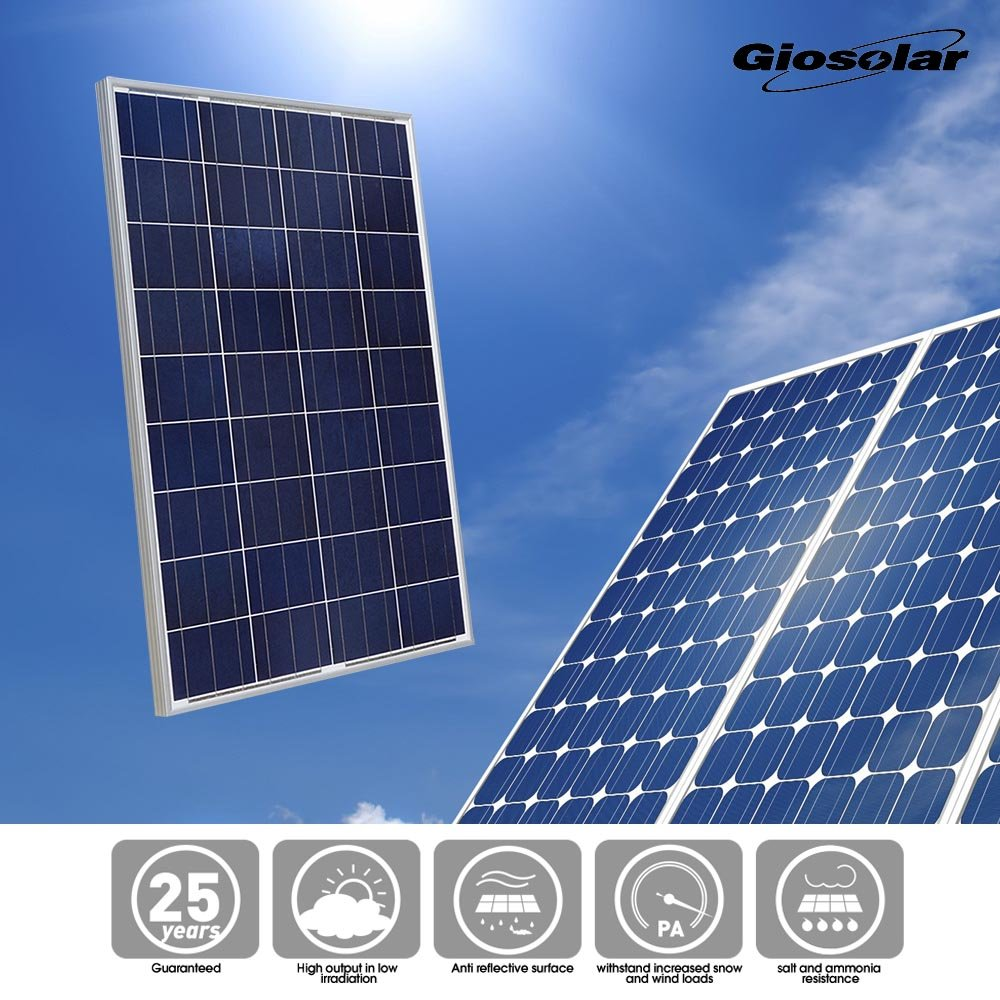 Giosolar 100Watt Poly Photovoltaic Solar Panel Solar Module for Home 12V Battery Charge by Giosolar