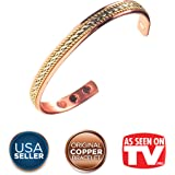 Women's Pure Copper Magnetic Healing Bracelet for Arthritis, Carpal Tunnel, and Joint Pain Relief – Adjustable Rope Inlay Style - Earth Therapy