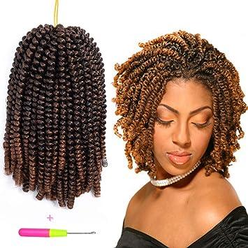 Spring Twist 3pcs Havana Mambo Crochet Braids Synthetic Hair 8 Inch Afro Kinky Twist Braiding Hair