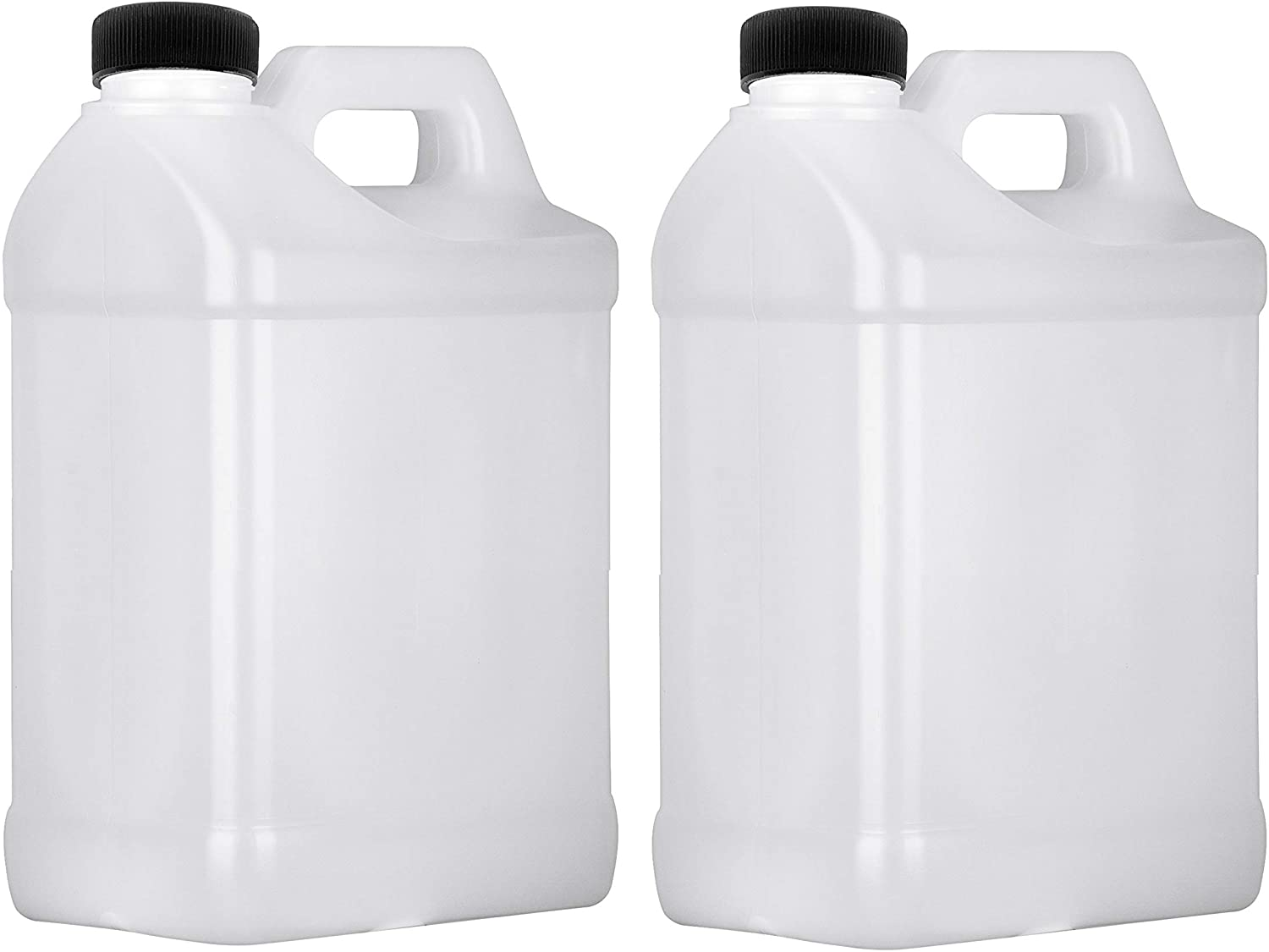 Plastic Jug 1 Gallon, F-Style Storage Containers, HDPE, 2 Pack