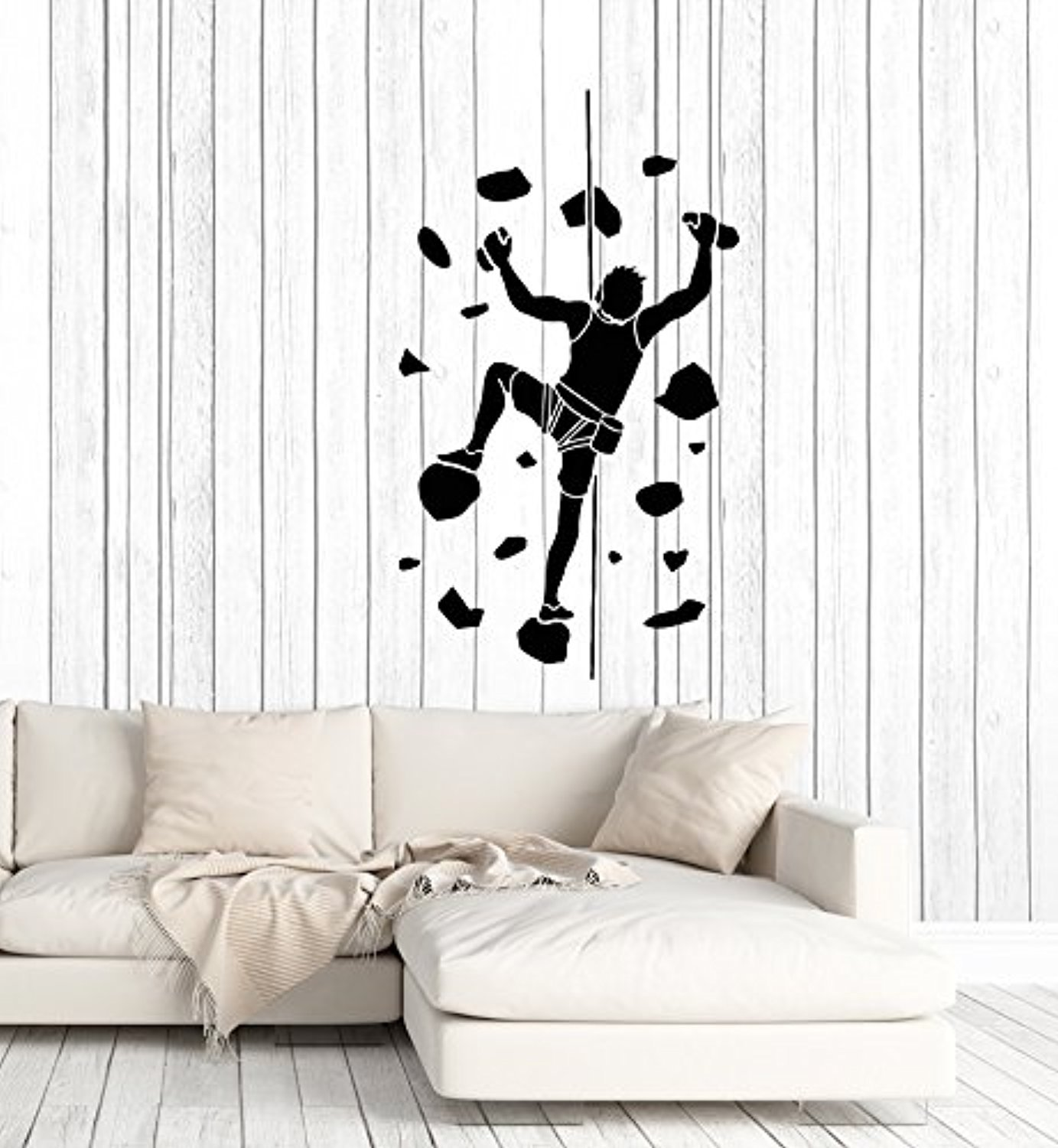 Amazon com amazing home decor large vinyl wall decal man indoor climbing climber room decor stickers mural 464 home kitchen