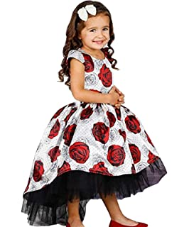 TTYAOVO Girls Flower Printing Chiffon Princess Wedding Party Holiday Dresses 4742a29e7