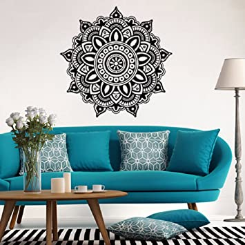 Attirant Lotus Mandala Pattern Wall Stickers,Ikevan 22.4u0026quot; X 22.4u0026quot; Black  Wall Stickers Environmental