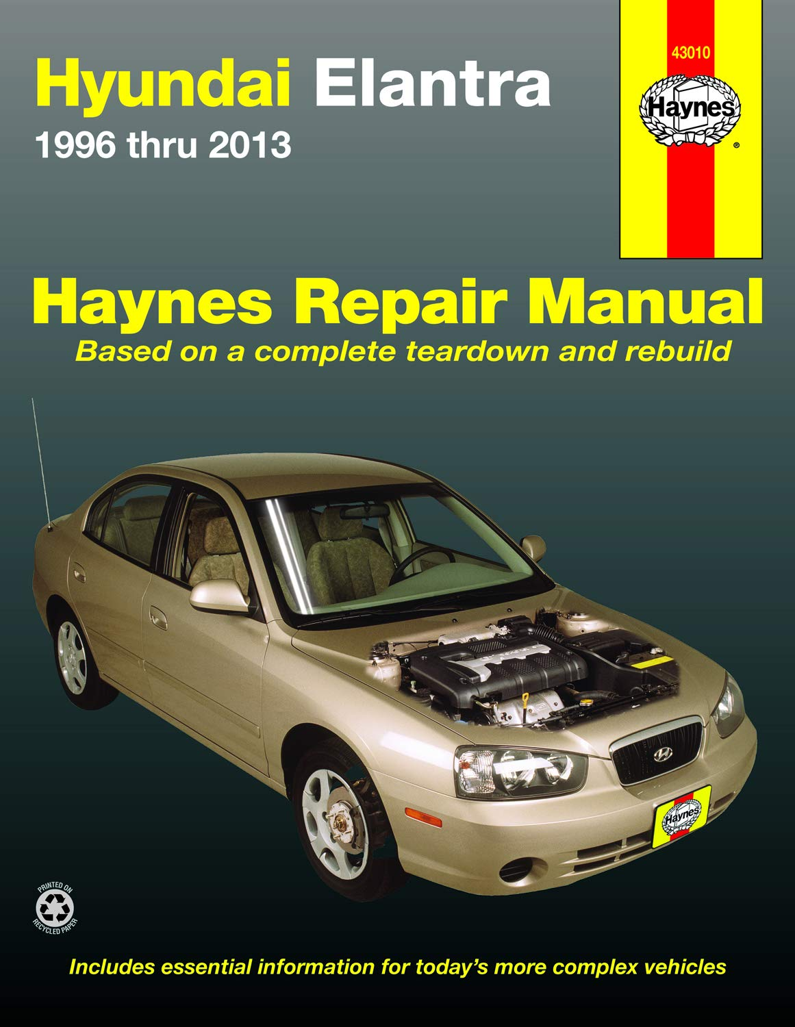hyundai elantra (96-13) haynes repair manual: editors of haynes manuals:  9781620921081: amazon.com: books  amazon.com