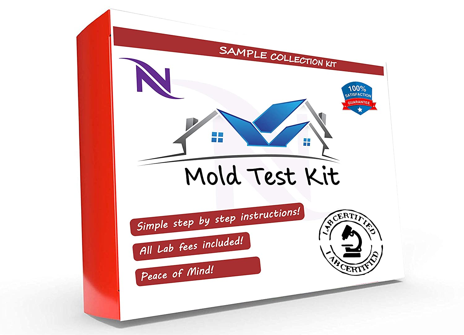DIY Mold Test, Mold Testing Kit (1 Tests). Lab Analysis and Expert Consultation Included