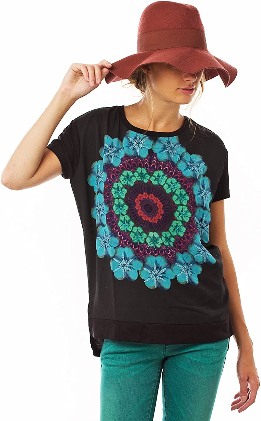 Desigual Womens TS_LUCY Graphic Round Collar Short sleeve