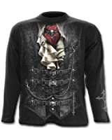 Spiral - Men - WAISTED - Longsleeve T-Shirt Black
