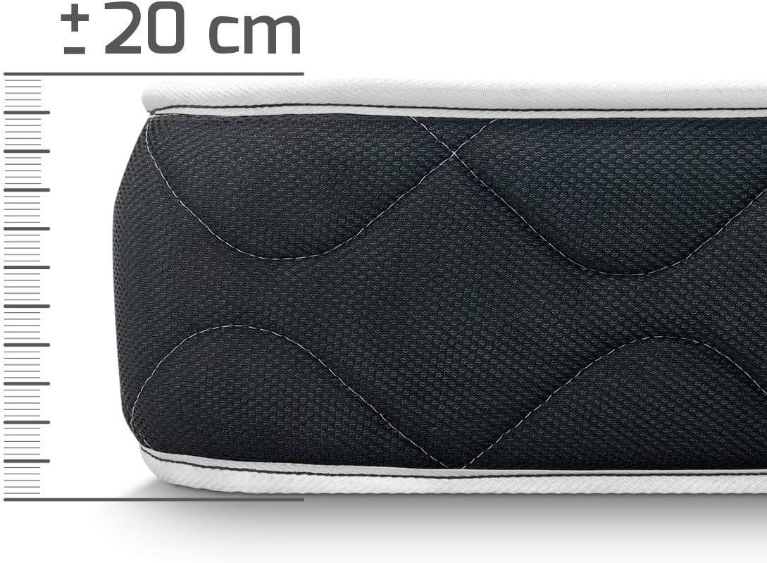 Duérmete Online - Colchón Viscoelástico Pocket Visco Reversible (Cara Invierno-Verano) Firmeza-dureza Alta, Muy Transpirable, 90x180