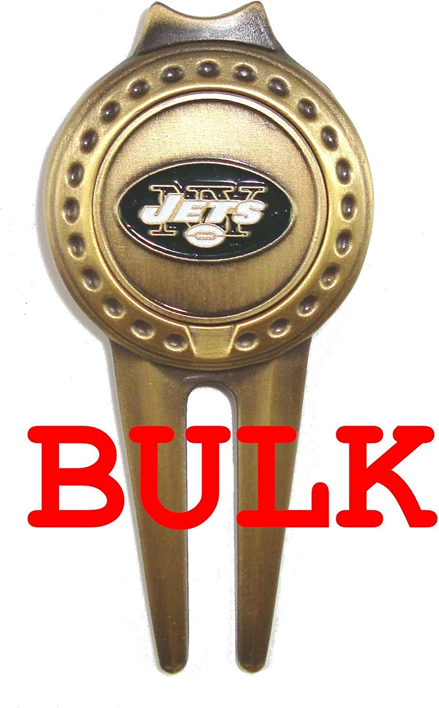 バルク: 100 New York Jets Divotゴルフボールマーカー、ツール