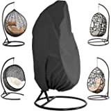 ConPus Patio Hanging Chair Cover - Waterproof Outdoor Hanging Egg Chair Cover with Durable Hem Cord, 210D Oxford Wicker Egg S