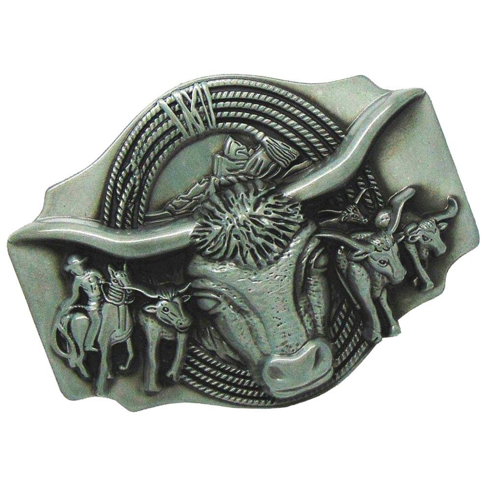 Sharplace Hebilla de Cinturón Diseño Creativo de Patrón Toro/Alce/León /Tigre/Jinete/Soldador/Departamento de Bomberos etc - Patrón Toro 10 x 7cm: Amazon.es: ...