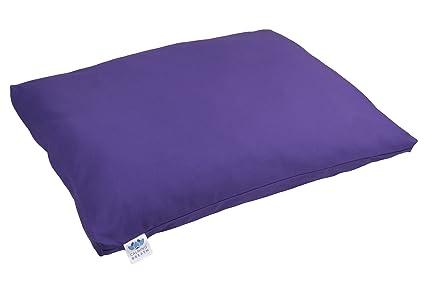 CalmingBreath zabutón Alfombra/Almohada de meditación - Extra Grueso, Algodón - Alforfón Lleno - ¡Grandes Colores!