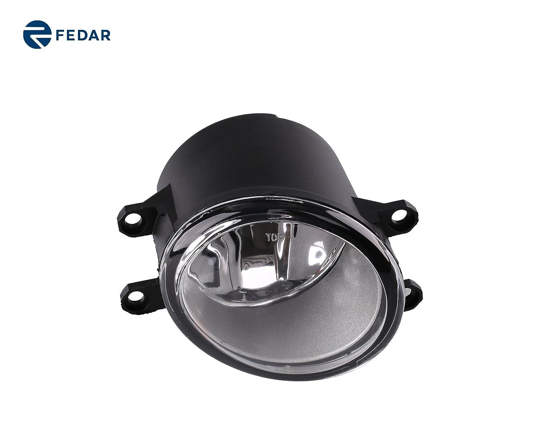 fedar claro lente Kit de luz de niebla para 2009 - 2011 Toyota Yaris Hatchback: Amazon.es: Coche y moto