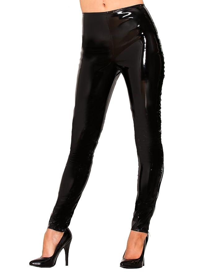 2db04f7ebd6 Honour PVC Leggings Black at Amazon Women s Clothing store