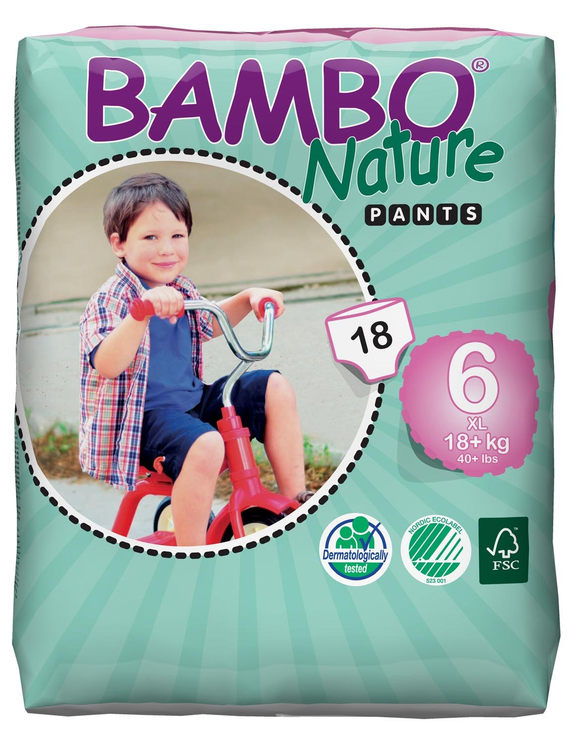 3 Packs of Bambo XL Training Pants 18+ kg, 40+ lb Abena