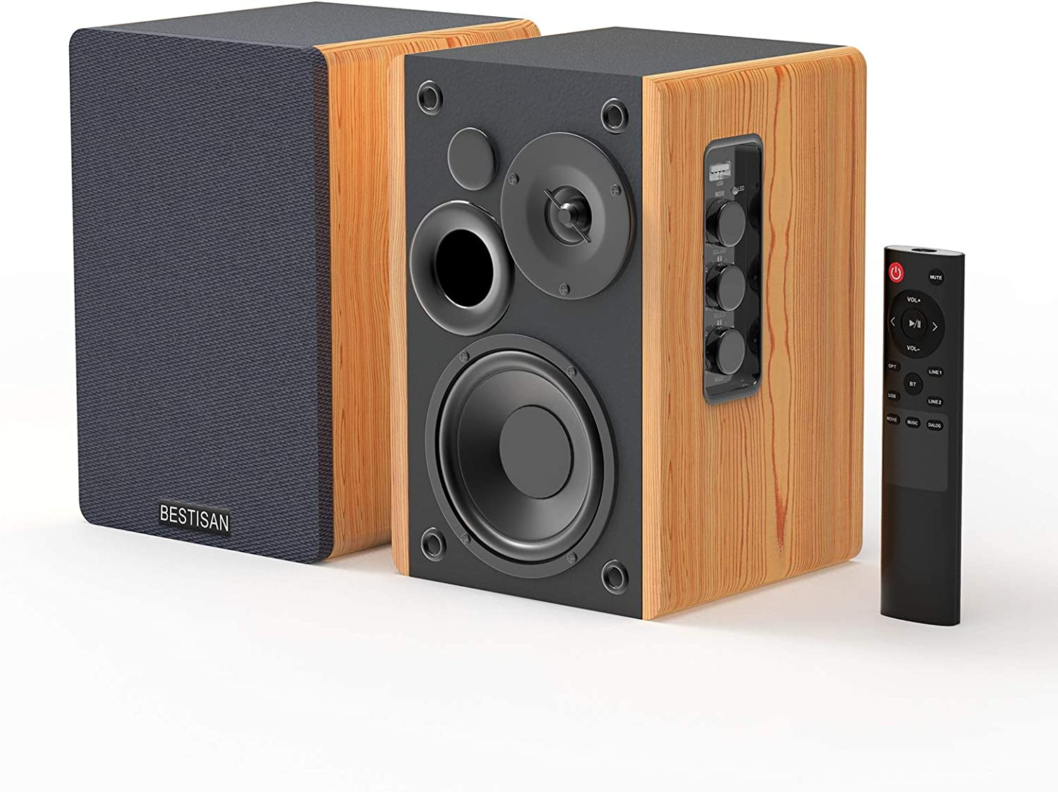 Bestisan Bookshelf Speakers-Latest Released Front-Firing Speaker