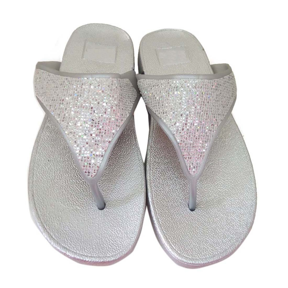 49b879ca75e22 HALO NATION Ladies Designer Slip Silver Sandals for Girls  Buy Online at  Low Prices in India - Amazon.in