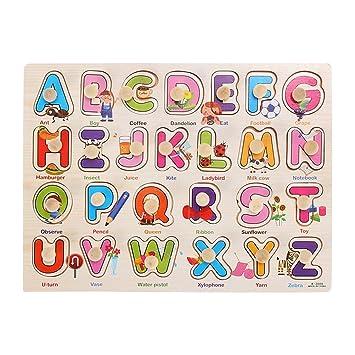 Puzzles Toymytoy Abc Rompecabezas Puzzle Alfabeto Madera De mb7gfvIY6y