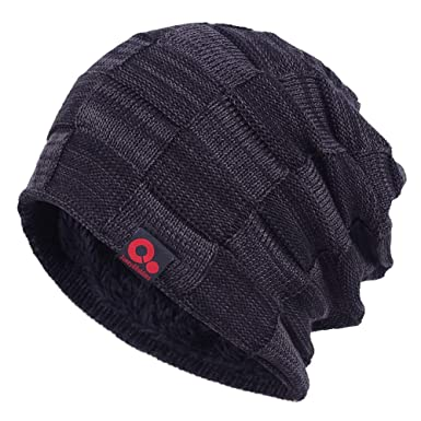 6c38d292c67 Janey Rubbins Winter Oversize Slouchy Style Beanie Fur Lined Stocking Skull  Cap Dip Dye Knit Ski Hat
