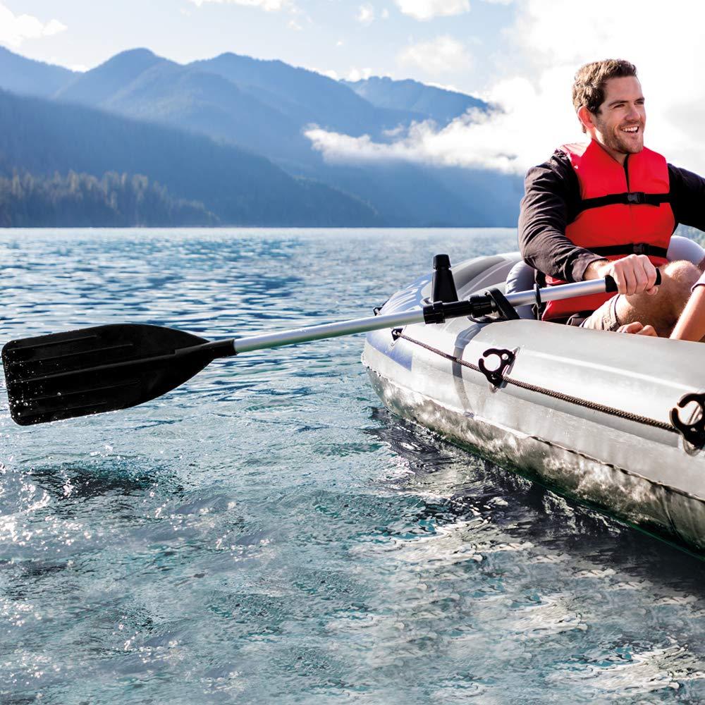 Doppelpaddel 122 // 244 cm Schwarz Intex Kayak Paddle // Boat Oars Paddel