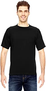 product image for Bayside Men's American made cotton Basic T-Shirt, BLACK, Large