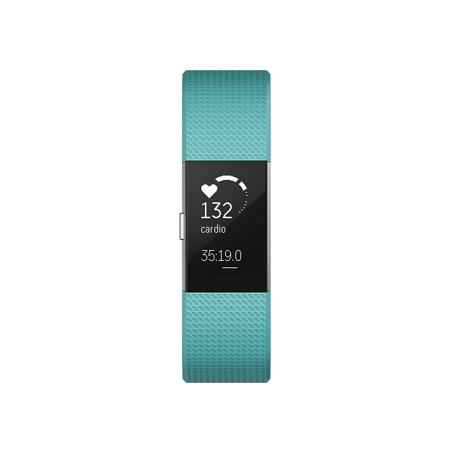 Fitbit Charge 2 Heart Rate Fitness Wristband, Teal, Small US Version
