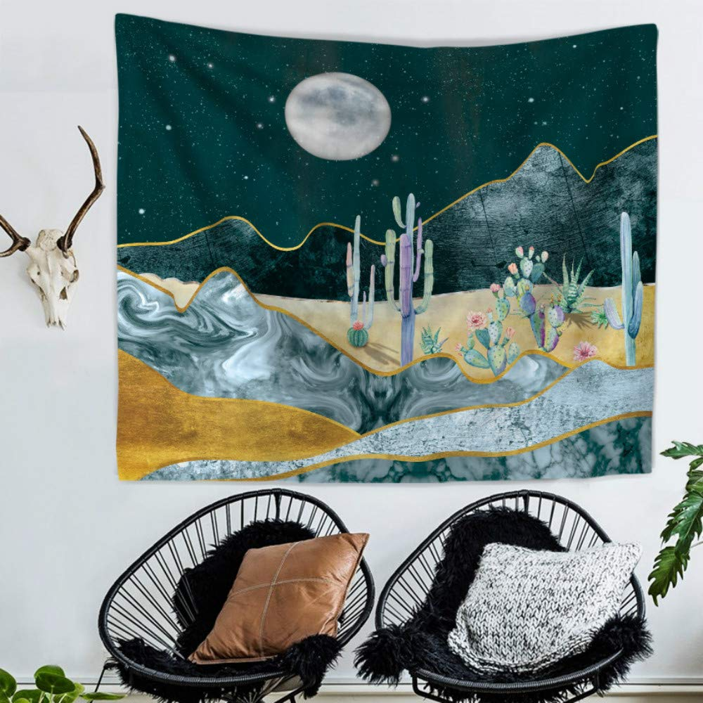 ZHH Wall Hanging Mountain Forest Tapestry Indian Wall Art for Living Room Bedroom Decor Home D/écor Hippy Tapestry 51 x 59inch