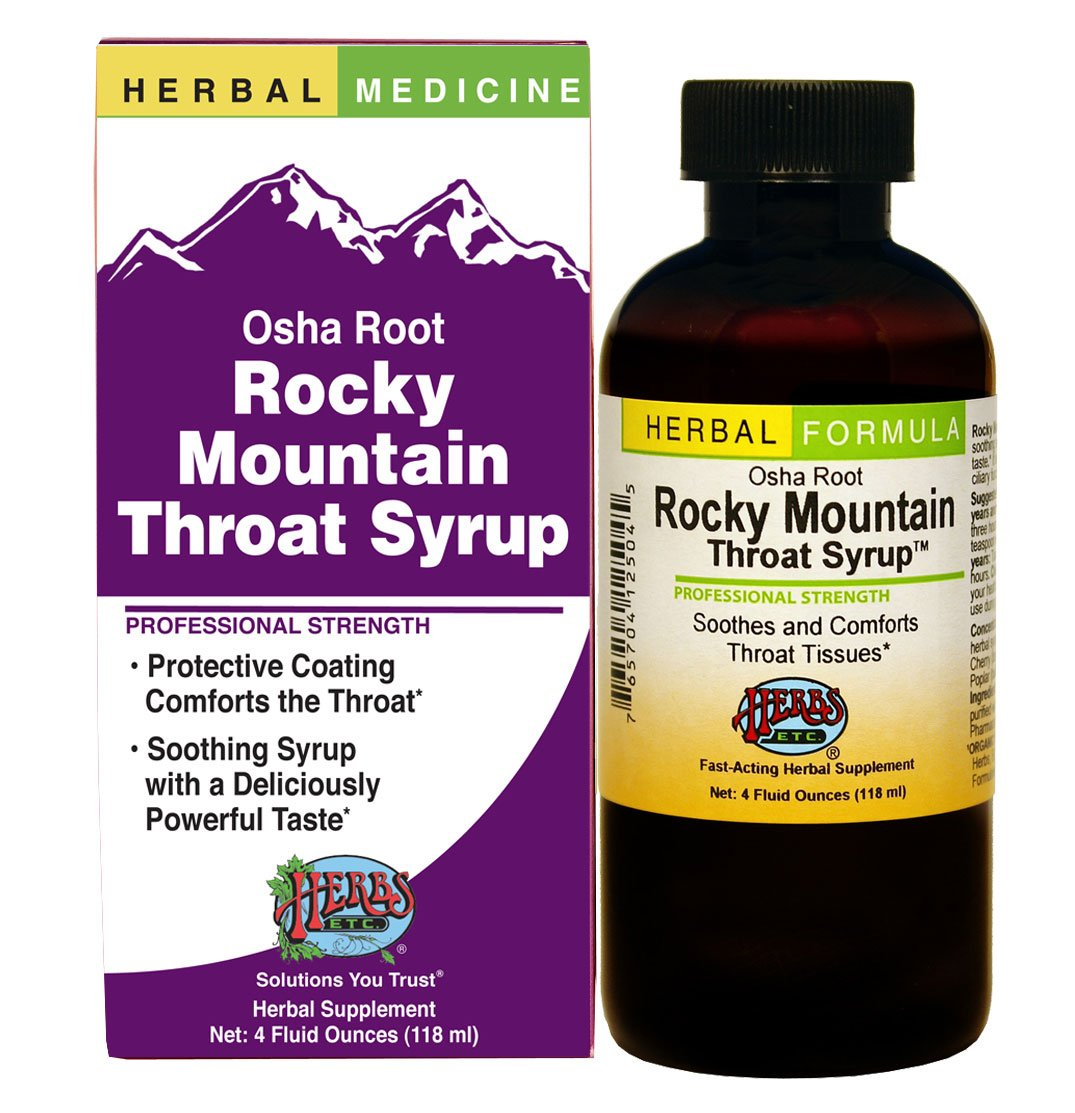 Herbs Etc, Rocky Mountain Throat Syrup, 4 Ounces